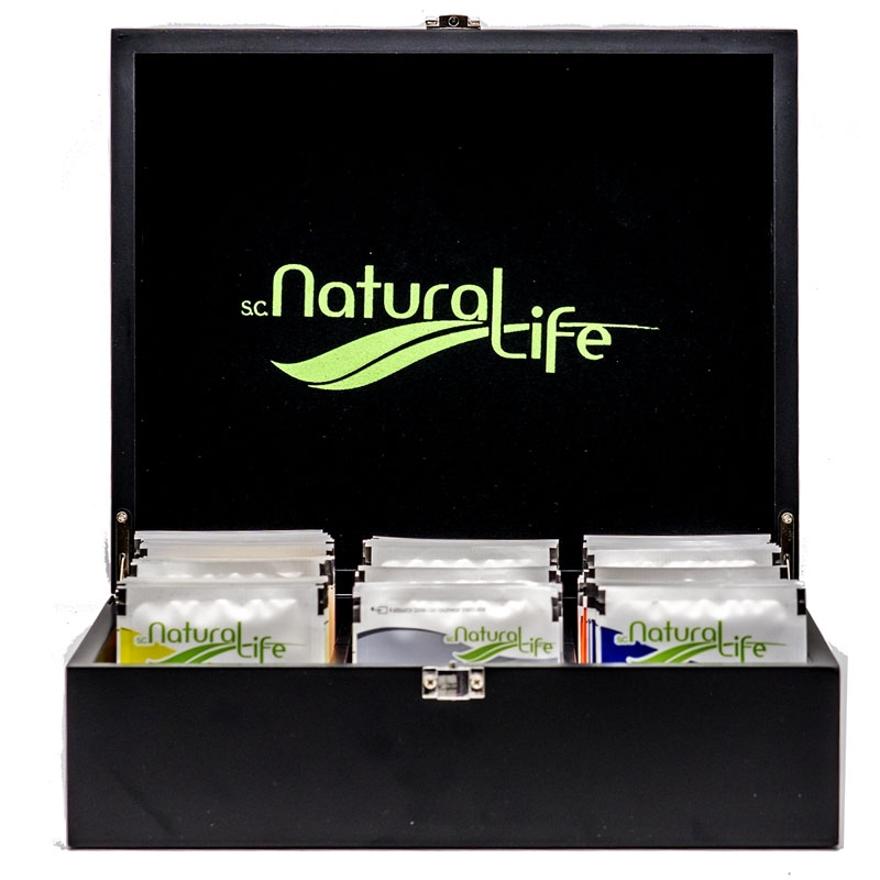Natural Life Wooden Tea Box Starter Pack