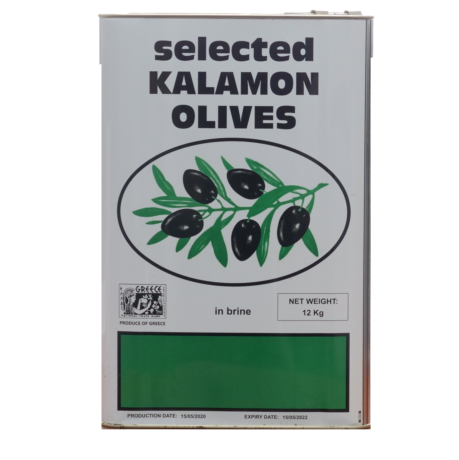 Black Kalamata Olives in Olive Oil 12KG Net